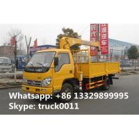 hot sale Forland 4*2 LHD 2tons telescopic boom mounted on truck, best price FORLAND 2,000kgs cargo truck with crane Manufactures