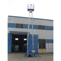 Durable 200Kg Loading Hydraulic Lift Platform Towing Type Lifting 8m Dual Mast Manufactures