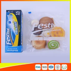 Transparent Ziplock Plastic Food Storage Bags Resealable , Zip Seal Food Bags Manufactures
