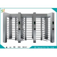 Automatic RFID Full Height Turnstiles High Security With Barrier Gate Manufactures