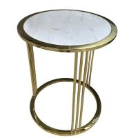 stone top stainless steel metal side table/End table/coffee table for hotel furniture,casegoodsTA-0082 Manufactures