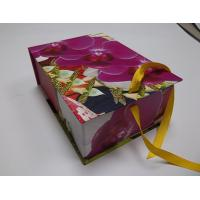 Colorful Flowerscardboar Gift Folding Box With Silk Ribbon For Decoration Packaging Manufactures
