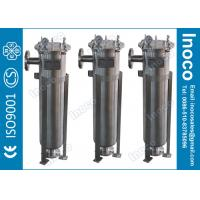 BOCIN SS304 SS316 Single Bag Filter Housings , High Performance Liquid Pocket Filter Manufactures