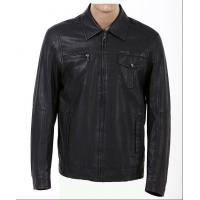 Customized Black Mens Western, Classic, Plus Size Motorcycle Fleece Lined Leather Jacket Manufactures