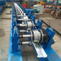 Notch Punching Steel Door Frame Roll Forming Machine With 45 Degree Cut Manufactures