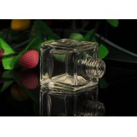 Classic Square Empty Small Glass Perfume Bottles With Screw Top , 50ml Volume Manufactures
