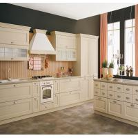 White Color White Shaker Kitchen Cabinets , Pre Assembled Kitchen Cabinets Manufactures