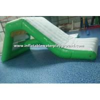 PVC Tarpaulin 0.9mm Inflatable Backyard Water Slide , Inflated Curved Water Slide Manufactures