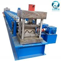 China Automatic Highway Guardrail Roll Forming Machine 2 / 3 Waves Manufactures