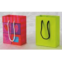 Buy cheap Personalized 170gsm Cotton Handle Matte Lamination Colorful Art Paper Gift Bag from wholesalers