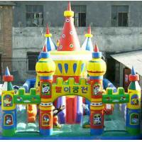 Large 0.55mm PVC Inflatable Sports Games , Giant Amusement Park Funcity For Kids Funny Manufactures