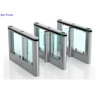 RFID Swing Barrier Gate, Optical Turnstile Slimlane High Speed Flap Barrier Manufactures
