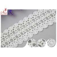 Fancy Water Soluble Lace Trim 9CM With Polyester / Lace Ribbon Trim Manufactures