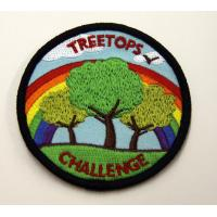 Embroidered Custom Patches / Badges With Personalized Pattern For Clothing / Cloths Manufactures