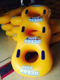 Quality Yellow Inflatable Swim Ring Inflatable Water Toys For Offshore / Pool for sale