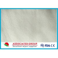 Spunlace Non Woven Fabric Roll Mesh Pattern Hygien Cleansing Use 50GSM Manufactures