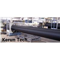 Water Supply / Gas Supply Large Diameter HDPE Pipe Extrusion Equipment  Line 480 Kgs / H Manufactures