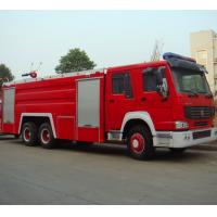 6x4 10m3 Fire Fighting Truck , Diesel Powered Heavy Duty Trucks Manufactures