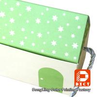 Quality House Shaped Candy Custom Printed Packaging Boxes Green Fancy With Handles for sale