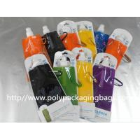 Colorful Printed Stand Up Pouch With Spout / Liquid Spout Bags Manufactures