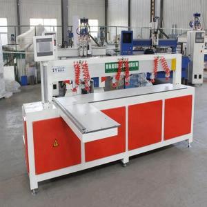China Horizontal Wood Plate Cnc Hole Drilling Punching Machine Taiwan Servo Motor on sale