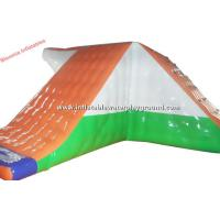 Colorful PVC Tarpaulin Inflatable Water Games , Inflatable Action Water Tower Manufactures