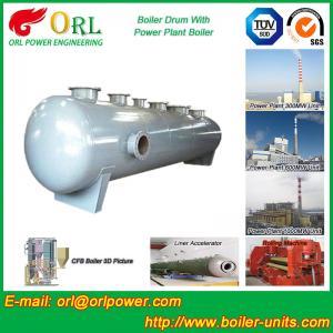 Energy Saving Floor Standing Boiler Mud Drum , Grey High Pressure Drum Manufactures