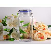 Tall Square Glass Tableware Large Food Can Storage For Storage Manufactures