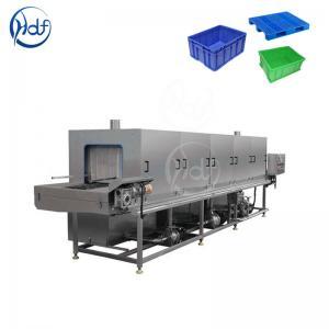 China Fruit Turnover Basket Washing Machine Energy Saving 50L / Min Water Consumption on sale