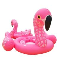 0.47mm PVC Printing Inflatable Flamingo Pool Float , Pink Flamingo Pool Toy Manufactures