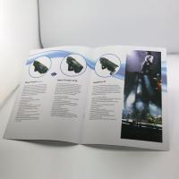 OEM Folding saddle stiching Color Booklet Printing with foil-stamping for advertising Manufactures