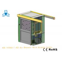 Quality Personal Air Shower Room Auto Single - Leaf Slidng Doors For Double People for sale