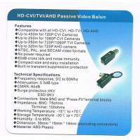 Quality TVI Video Balun , Single Channel Screwless HD-CVI TVI AHD Video Balun , VB102EH for sale