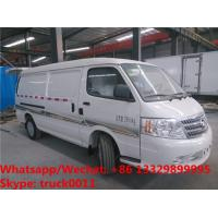 2018s high quality and best price FOTON 4*2 LHD gasolinerefrigetator minivan vehicle for sale, cold room minibus Manufactures