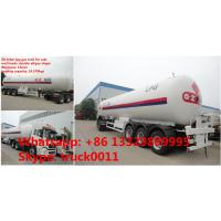Best price CLW Brand 24.5tons bulk lpg gas road transported tank for sale,hot sale ASME standard 58.5m3 lpg gas trailer Manufactures