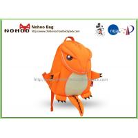 Orange Breathable Toddler Rucksacks / Tyrannosaurus Shape Personalized Preschool Backpacks Manufactures