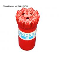 GT60 15 buttons 115mm tungsten carbide hard rock drilling thread button bits for mining Manufactures