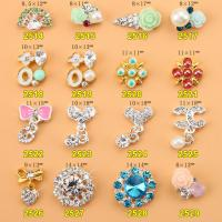 Hot NEW Wholesale Alloy Jewelry 3D Nail Art Jewelry Nail rhinestones Sticker Supplier Number ML2514-2529 Manufactures