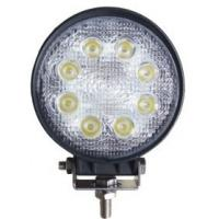 Round 24W Automotive Led Work Lights 1755lum Manufactures
