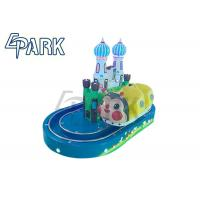 Fiberglass Round Castle Train Kiddy Ride Machine Coin Operated Manufactures