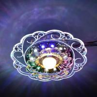 Buy cheap Practical-3W LED Crystal Lotus Ceiling Light Flush Lamp Main Warm Light Auxiliary Colorful Light Indoor Lighting Perfe from wholesalers