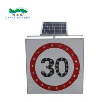 China 3M  film solar powered traffic signs reflective triangle round square aluminum on sale