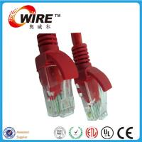 China PVC / LSZH Jacket 2m Cat6 Patch Cable , Straight RJ45 Network Patch Cord on sale