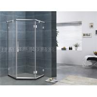 China Mirror Color Corner Shower Enclosures Diamond Shape Hinged Style For House on sale
