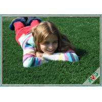 UV Resistant Plastic Realistic Artificial Grass / Artificial Lawn Turf For School Kids Manufactures