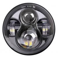 "Energy Saving 80 W Round Jeep Wrangler Jk Led Headlights , 7"" Moto Led Projector Headlamps Manufactures"