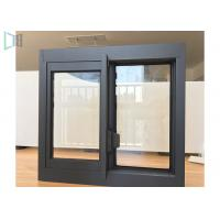 Single Tempered Glass Aluminium Sliding Windows Thin Frame Profiles Manufactures