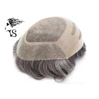 Medium Density Curly Mens Human Hair Toupee , Mono Top Hair Piece Free Style Manufactures