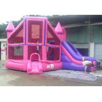 Large Pink Inflatable Water Sports , Commercial Bouncy Castle Manufactures