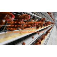 Buy cheap Silver White Hot Galvanized Steel A Frame Battery Layer Chicken Cage with 90-200 birds for Poultry Farm from wholesalers